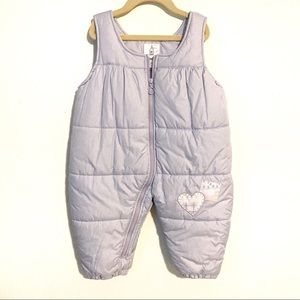 London Fog Toddler Zip Up Puffer Snow Bibs